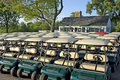 Club House And Golf Carts Stock Image - 9727091