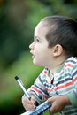 Lovely Child Writing Royalty Free Stock Photography - 9729107