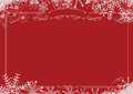 Christmas Winter Snowflake Retro Border And Red Textured Backgro Royalty Free Stock Photo - 97211995