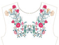 Embroidery For Neckline, Collar For T-shirt, Blouse, Shirt.   Royalty Free Stock Photos - 97231988
