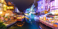 Christmas Little Venice In Colmar, Alsace, France Royalty Free Stock Photo - 97238235