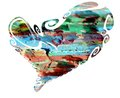 Heart. Colorful Isolated Heart In Paint Colors Design Stock Images - 97250294