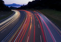Car Lights Traveling The Freeway Royalty Free Stock Images - 97252159