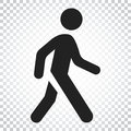 Walking Man Vector Icon. People Walk Sign Illustration. Business Royalty Free Stock Images - 97298959