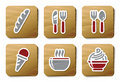 Food And Restaurant Icons | Cardboard Series Royalty Free Stock Photo - 9731195