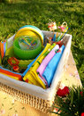 Bright Color Summer Picnic Accessories Stock Photography - 9732612