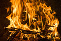 Burning Firewood In The Fireplace Close Up, BBQ Fire, Charcoal Background. Royalty Free Stock Photos - 97302828
