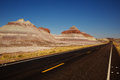 Petrified Forest Road In Petrified Forest National Park Stock Images - 97353394
