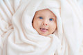 Caucasian Baby Boy Covered With  Towel Stock Image - 97354661