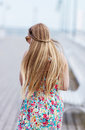 Back View Of The Young Female With Beautiful Blond Straight Long Hair Royalty Free Stock Photos - 97357308