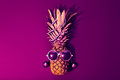 Fashion Hipster Pineapple. Tropical Beach Party Royalty Free Stock Photo - 97366835