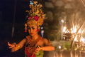 Beautiful Balinese Woman Dances During A Traditional Kecak Fire Dance Ceremony In Hindu Temple. Stock Images - 97367154
