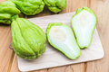 Fresh Chayote Fruit Royalty Free Stock Photo - 97390645