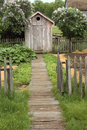 Vintage Outhouse On The Farm Stock Images - 9740304