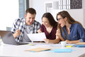 Excited Workers Reading A Good Results Report Royalty Free Stock Images - 97405889