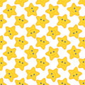 Vector Seamless Pattern With Cartoon Stars Royalty Free Stock Photos - 97416718