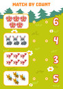 Counting Game For Preschool Children. Count Animals Royalty Free Stock Image - 97427086