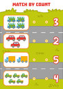 Counting Game For Preschool Children. Count Cars In The Picture Stock Photography - 97427132