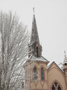 Historic Church With Snow Royalty Free Stock Photography - 97428547