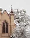 Historic Church With Snow Royalty Free Stock Photo - 97428875