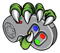 Monster Hand Holding Video Games Controller Royalty Free Stock Image - 97441626