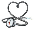 Stethoscope Heart Clock Concept Royalty Free Stock Image - 97441656