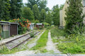 Old Train Track In Abandonend Industry Area Stock Photography - 97445822