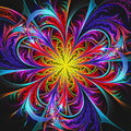 Bright Colorful Fractal Flower Background Stock Photos - 97487033