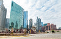 Chicago Downtown Urban Streets View, Illinois. Royalty Free Stock Image - 97487246