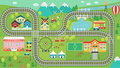 Train Track Play Placemat HD Royalty Free Stock Photos - 97507448