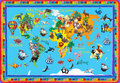 World Animals Plasticine Colorful Kids 3d Map Royalty Free Stock Photography - 97524547
