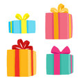 Christmas Presents Collection. Vector Illustration Of Cartoon Gifts Royalty Free Stock Images - 97526279