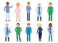 Healthcare People In Hospital. Pharmacist, Doctor, Nurse And Other Medical Characters Royalty Free Stock Images - 97535039