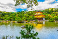 Beautiful Architecture At Kinkaku-ji (Temple Of The Golden Pavil Stock Photo - 97560130