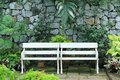 White Bench Royalty Free Stock Images - 97587729