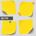 Colored Sticky Notes With Vector Transparency Stock Photos - 97598503