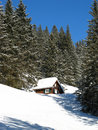 Small Cottage In Alps Stock Image - 9764771