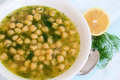 Soup With Chickpea Stock Photography - 9768772