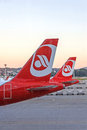 Airplane Tail Fin Of Plane From Airline Air Berlin - Airport Zurich Royalty Free Stock Photography - 97620807