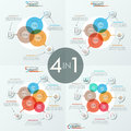 Bundle Of 4 Unusual Infographic Design Layouts Royalty Free Stock Image - 97625986