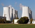 Nuclear Power Plant, Cooling Towers - Slovakia Royalty Free Stock Image - 97628286