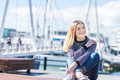 Outdoor Portrait Of Young Happy Smiling Teen Girl On Marine Back Royalty Free Stock Image - 97645866