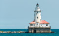 Big Light House On A Michigan Lake Stock Photo - 97665950