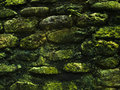 Mossy Rustic Stone Wall Closeup Photo Texture. Rough Stone Wall Of Ancient Building. Stock Images - 97686834