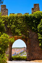 Medieval Arched Door, Castle Interior Walls, Travel Portugal Stock Images - 97694594
