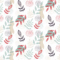Floral Flowers Nature Seamless Vector Pattern Royalty Free Stock Images - 97699509
