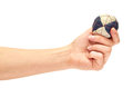 Female Hand Holding A Special Ball Hackysack For Sport In The Company Of Friends. Royalty Free Stock Photos - 97707118