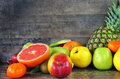 Healty Organic Mix Of Fruits Composition Royalty Free Stock Photography - 97710397