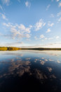 Still Lake Perfect Reflection Of Sky And Clouds Royalty Free Stock Photography - 97714697
