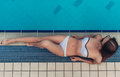 Attractive Girl Near Swimming Pool Royalty Free Stock Photo - 97743905